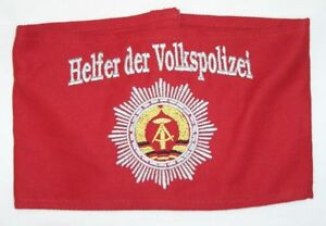 Armbinde * HELFER DER VOLKSPOLIZEI * mit DDR Logo stick