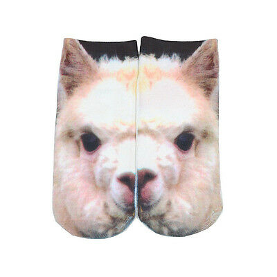 HOT!1 Pair Casual Men Women Low Cut Ankle Socks Cotton 3D Printed Animals FREE