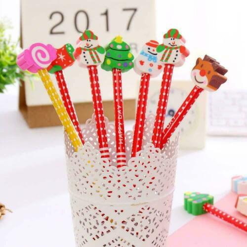 Christmas Pencil With Eraser Tops Kids Teacher Xmas Party Student Bag stati N3I4
