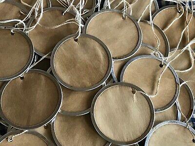 """25 Metal Rim Round Circle XLARGE 2-1//4/"""" WHITE AVERY Price Gift Hang Tags"""
