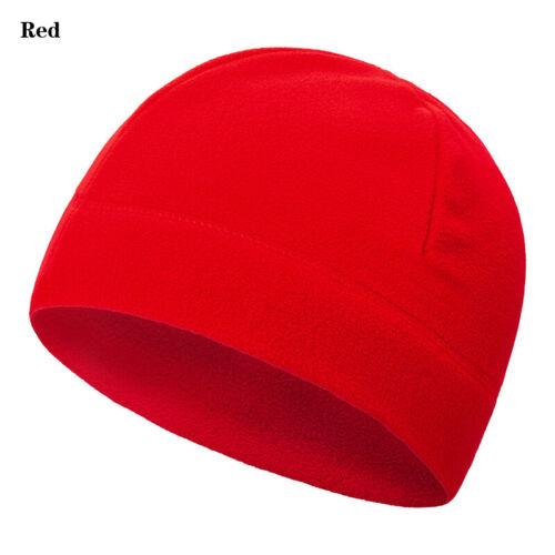 Unisex Soft Solid Melon Hat Fleece Cap Casual Outdoor Riding Sports Winter Warm