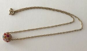 Sparkling-Multicolor-Crystal-Gold-Tone-Ball-Sliding-Pendant-Chain-Necklace-15-034