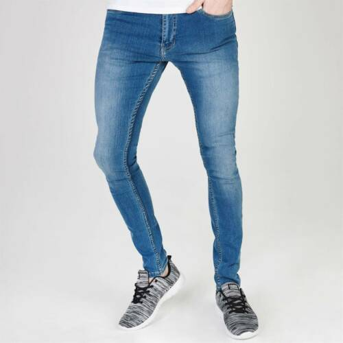 Mens Firetrap Super Skinny Jeans Zip New