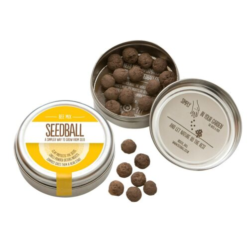Seedball  3 x tins of Bee Mix covers area of 3 square meters.1000 seeds p// tin