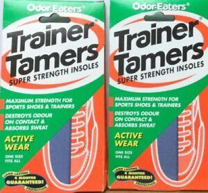2x-Odor-Eaters-Zapatillas-TAMERS-superfuerte-plantillas-lavables-Buen-Precio