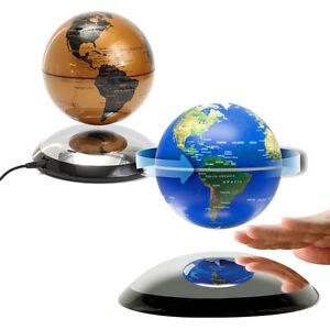 6 magnetic levitation floating globe world map goldblue room image is loading 6 039 039 magnetic levitation floating globe world gumiabroncs Gallery