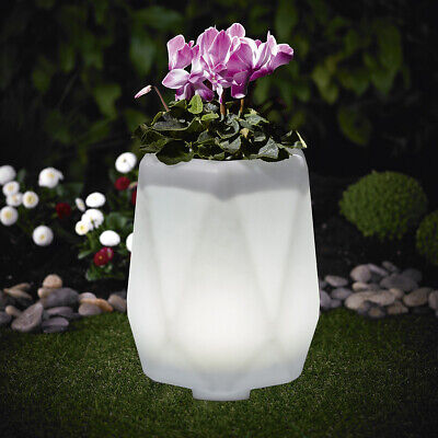 2 Pièces XL Lampe Solaire DEL Lampe Pot de fleurs 35x32cm changement de couleur RGB lk12