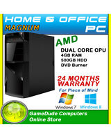 Amd Dual Core Home Student Office Pc 4gb Ram 500g Hdd Radeon R-3 Graphics