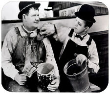 LAUREL AND HARDY MOUSE PAD 1/4 IN. MOVIE TV MOUSEPAD RETRO VINTAGE HOLLYWOOD