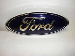 New Oem Ford Excursion F250 F350 F450 F550 Oval Front Grill Emblem 5c3z 8213 Ab Ebay