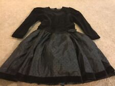 Girls size 10-12 years David Charles England black formal party holiday dress