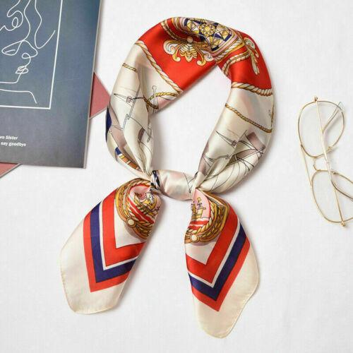 Head Wrap Square Scarf Bandana Neckerchief  Scarves Women Lady Stylish Silk Neck