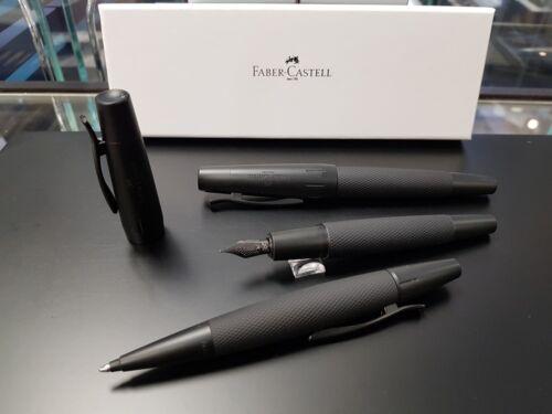 Faber-Castell e-motion Pure Black Kugelschreiber Füllhalter M Tintenroller