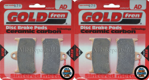 YAMAHA 2xSets 1999 2000 2001 YZF R6 For GOLDFREN FRONT BRAKE PADS