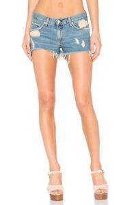 Rag-amp-Bone-medium-wash-distressed-cut-out-denim-shorts-NWT-sz-27-185