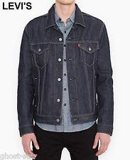 New LEVI'S trucker jacket XL jean blue dark wash type-iii 3 raw denim standard
