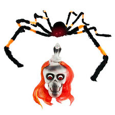 Halloween Prop Party Decoration Creepy Scary Giant 3FT Spider Laughing Skull