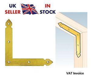 Image is loading Flat-Bracket-034-Yellow-034-Door-Angle-Mending-  sc 1 st  eBay & Flat Bracket \