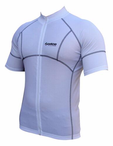 Zimco Cycling Bike Cycle Short Sleeve Jersey//Shirt Biking White 1057
