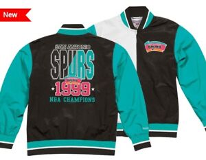 a6df68a1a32 San Antonio Spurs Mitchell   Ness NBA Champions Team History Warm Up ...