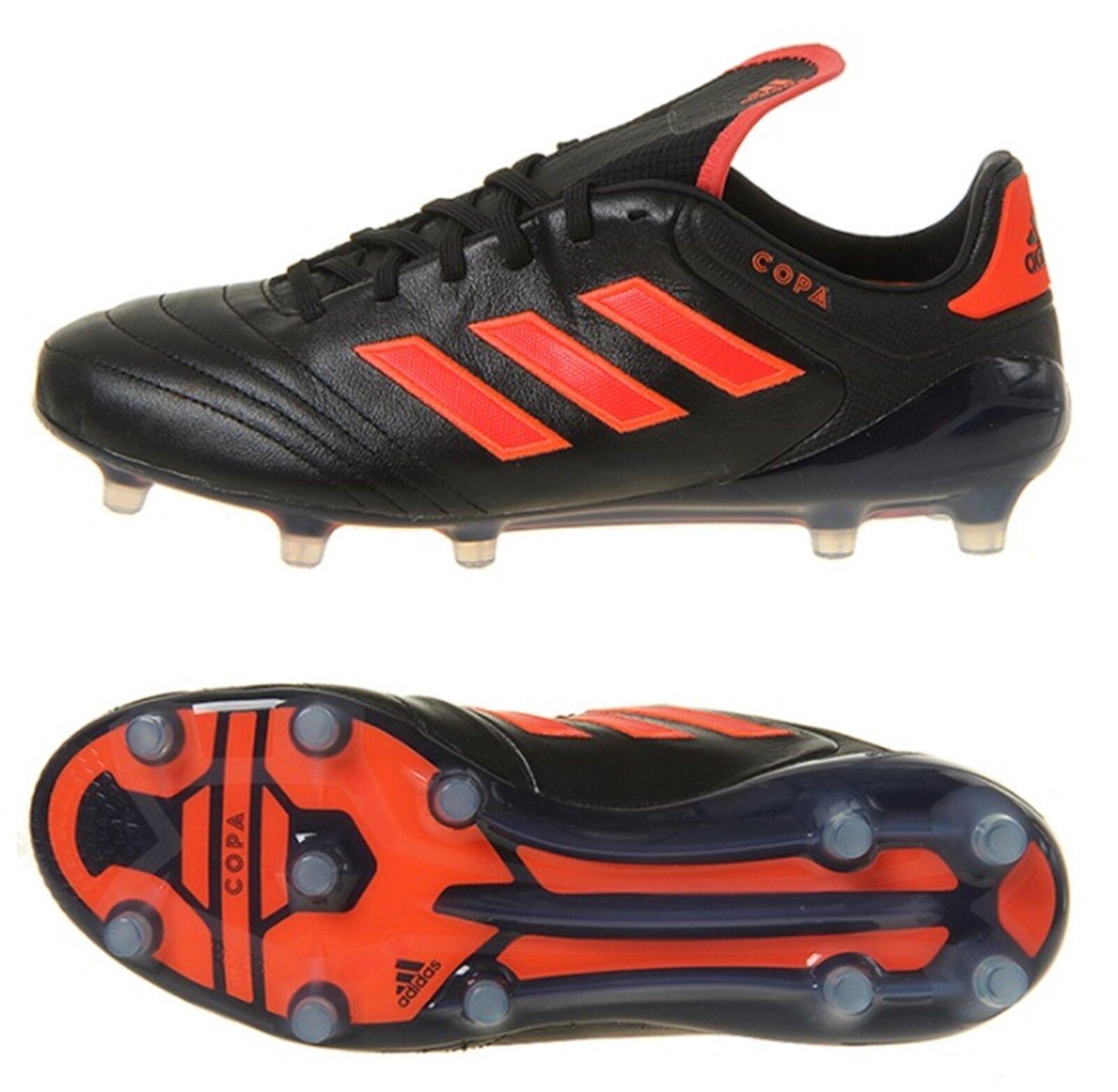Botines Adidas Hombres Copa 17.1 FG Negro Balonpié Fútbol Gimnasio Zapatos Spike S77128