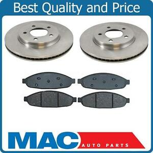 Front Brake Rotors Ceramic Pads For 2004 2005 2006 2007 2008 CHRYSLER PACIFICA