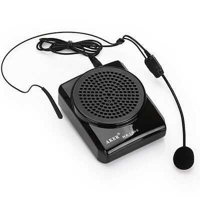 AKER Microphone MR-1506 Portable Waistband Voice Booster PA Amplifier Speaker