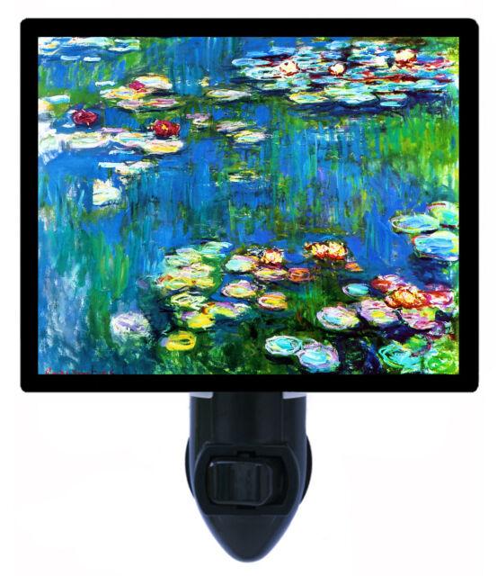 Night Light - Waterlilies - Old Masters Painting Night Light - Claude Monet
