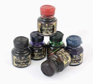 Manuscript-Assorted-Box-of-30ml-Premium-Quality-Calligraphy-Ink-Bottles-x-6-NEW