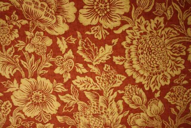 "Mulberry ""Grenadine"" colour red/gold designer curtain fabric - 5.2 metres"