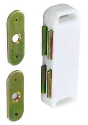 PACK OF 4 WHITE HEAVY RATED 8kg MAGNETIC CATCHES