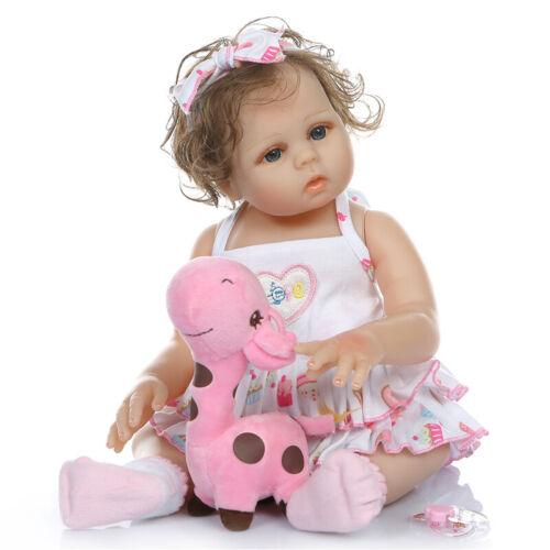 "18/"" Newborn Babies Anatomically Correct Baby Doll Girl Reborn Silicone Full Body"