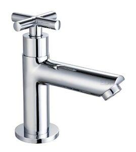 Details zu Kaltwasserhahn Gäste WC Armatur Standventil Kreuzgriff inkl.  Anschlussschlauch