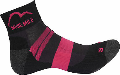 More Mile Endurance Womens Running Socks - Black Phantasie Farben