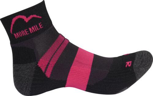 More Mile Endurance Femme Chaussettes de course-noir