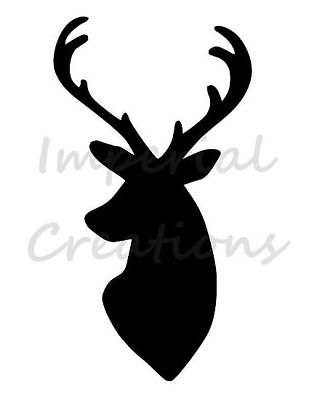 148x105mm Stag Deer Head selection Plastic sheet Shabby Chic Stencil pack A6