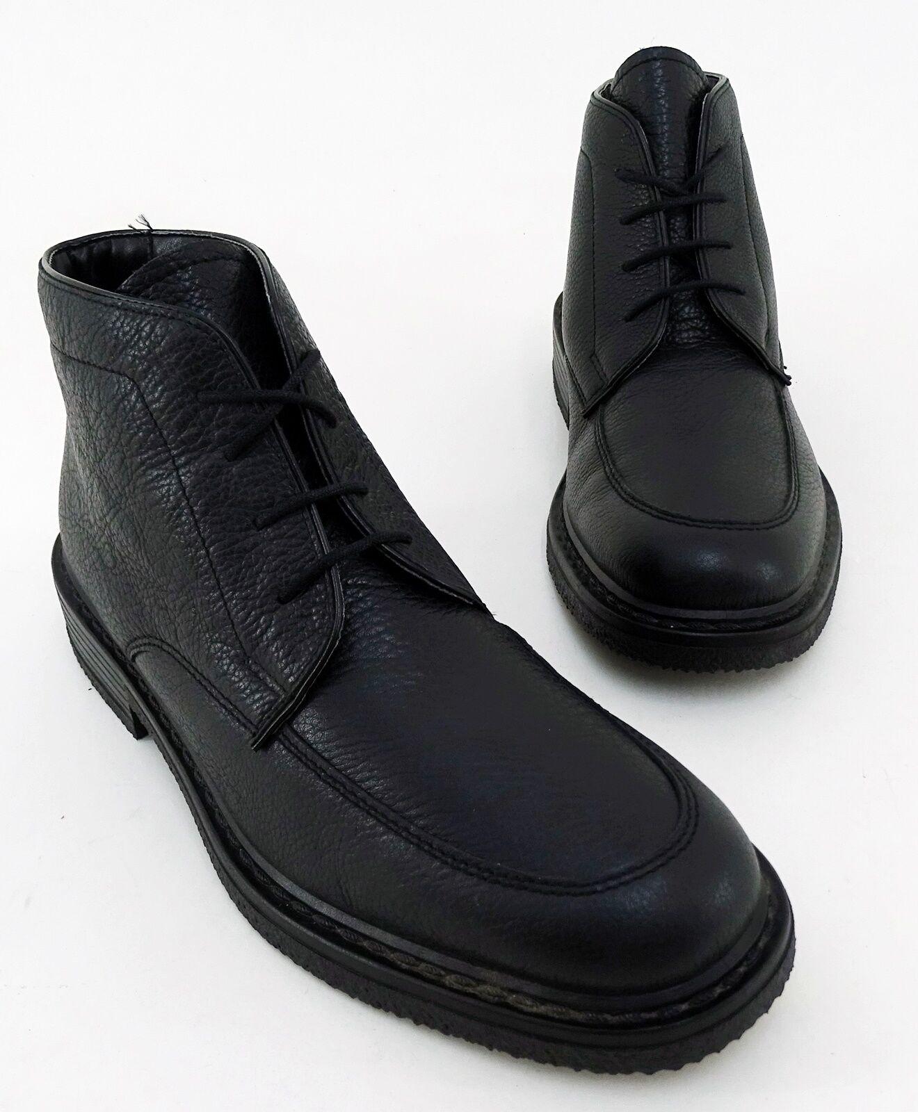Stiefeletten Rohde Schnürer Winter Boots Echtleder schwarz Gr. 9,5 = 43,5