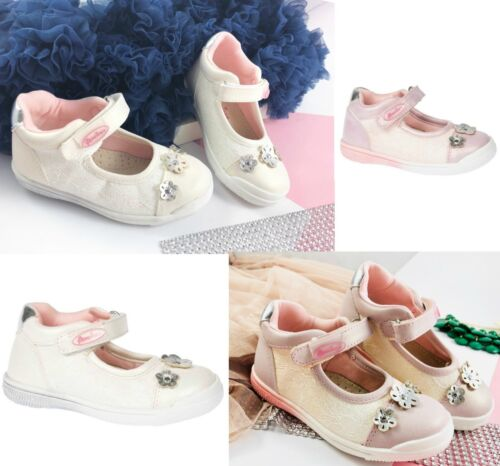 Toddler Girls Pearl Sparkly Shoes Pumps Leather Insole Party Occasion Sizes 4-8
