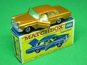 Matchbox-Lesney-No-46c-Mercedes-Benz-300SE-Coupe-en-Caja-F2-raro-apertura-de-puertas