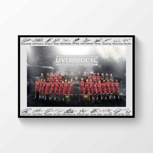 Liverpool FC Premier League Champions 2019-2020 Squad Signed Printed A4 Poster | eBay