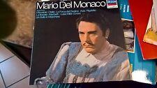 """LP 12"""" MARIO DEL MONACO DECCA GRANDI VOCI ARIE DA TROVATORE OTELLO AIDA N/MINT"""