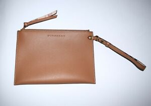 9aa67e1b959a Image is loading NEW-Burberry-Haymarket-Check-Large-Leather-Pouch-Wristlet-