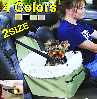 Pet Booster Seat Car Seat Carrier Car Auto Leash Faux Sheepskin Lining