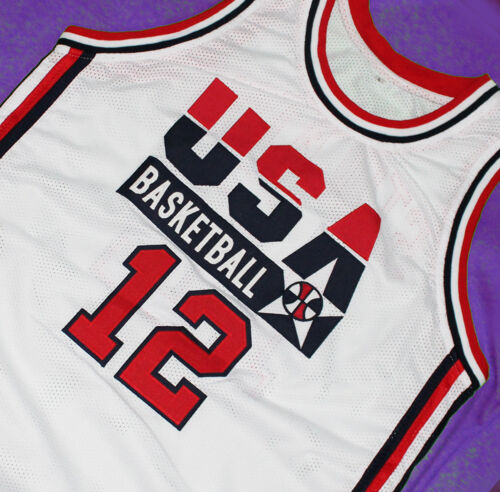 New Any Size 12 Stockton Sewn Usa Team John Jersey White g0q8O