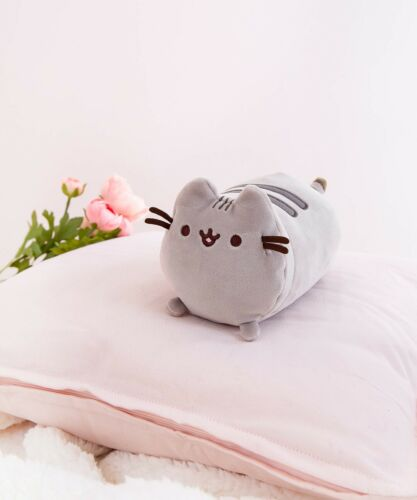 Details about  /GUND PUSHEEN NEW Squisheen Small Log Cat Gray Plush Cute Mini Loaf Kids Soft Toy