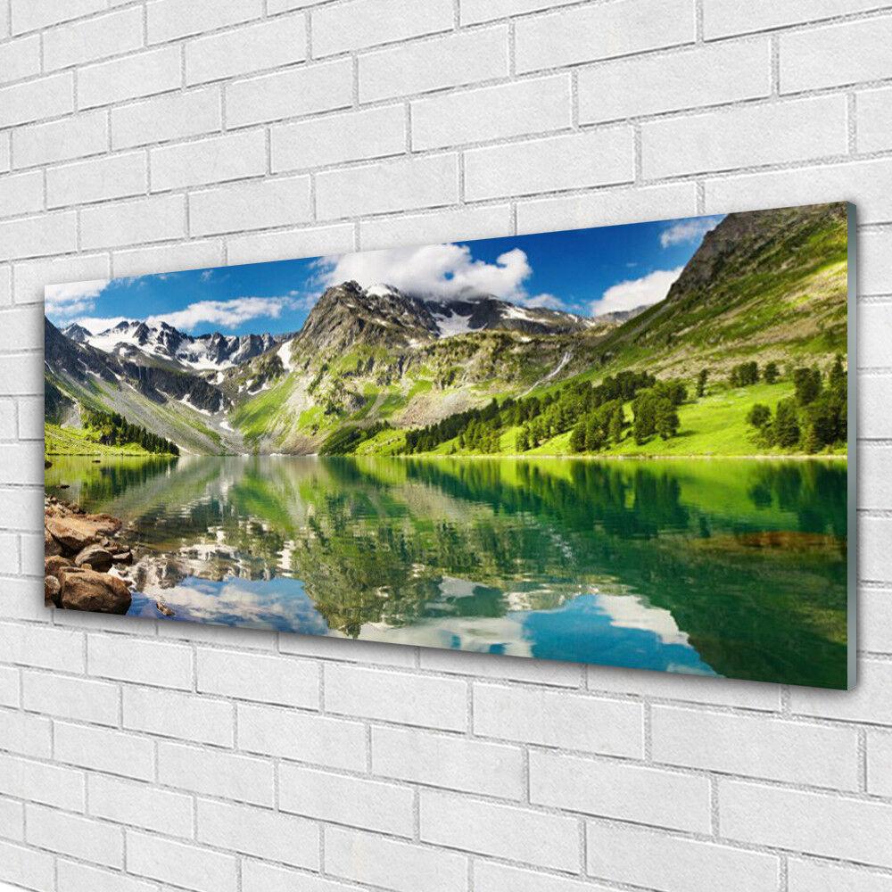 Immagini muro immagini in Vetro Stampa su vetro 125x50 MONTAGNA MARE PAESAGGIO