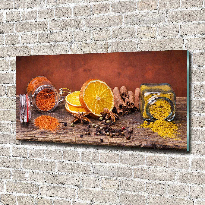 Acrylglas-Bild Wandbilder Druck 140x70 Deko Essen & Getränke Gewürze Mischung