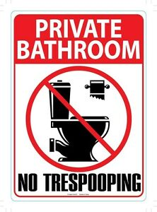 Bathroom Signs No Pooping funny metal sign notress pooping | ebay