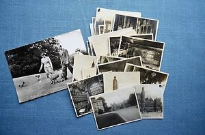 Real Photo Post Card of Queen Elizabeth II, & 22 Mini Photos of England