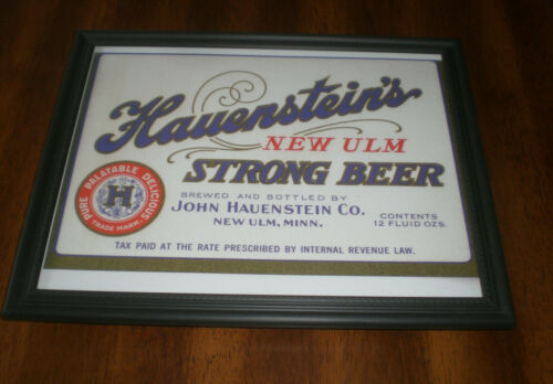 MINN NEW ULM YOUR CHOICE HAUENSTEIN NEW ULM BEER FRAMED PRINTS